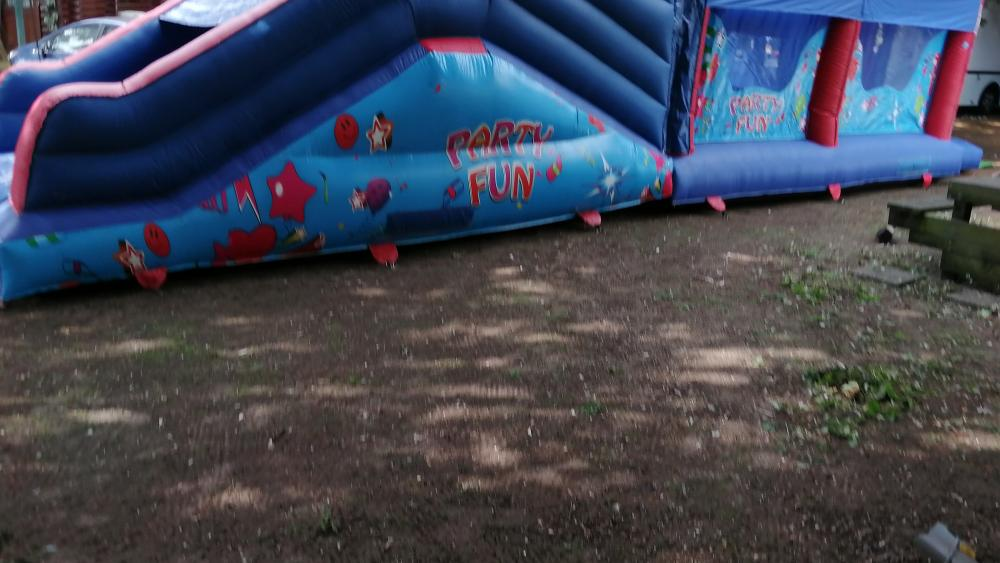 Side View of the Party Fun Obstacle Course